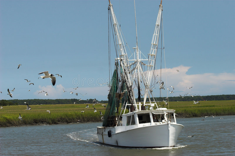 De boot van garnalen