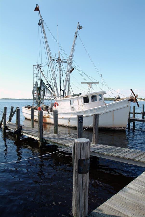 De Boot van garnalen stock fotografie