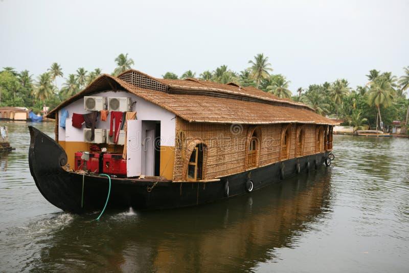 De boot van het huis, Kerala stock foto's