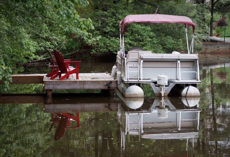 De Boot van het ponton stock foto