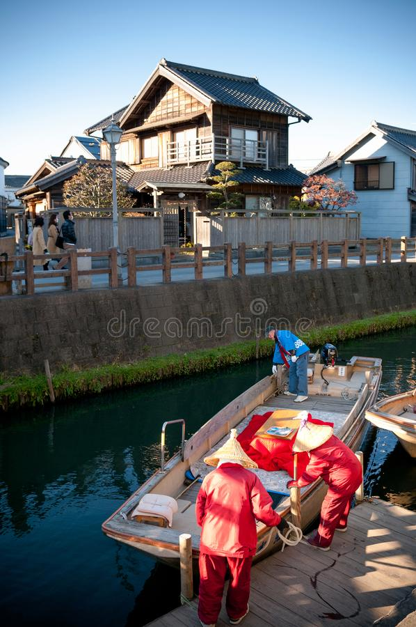 De Boot van Kioroshichabune in Sawara, Katori, Chiba, Japan royalty-vrije stock foto's