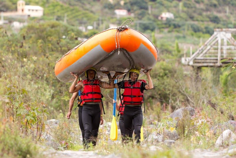 De Boot van Rafting van de Whitewaterrivier royalty-vrije stock afbeelding