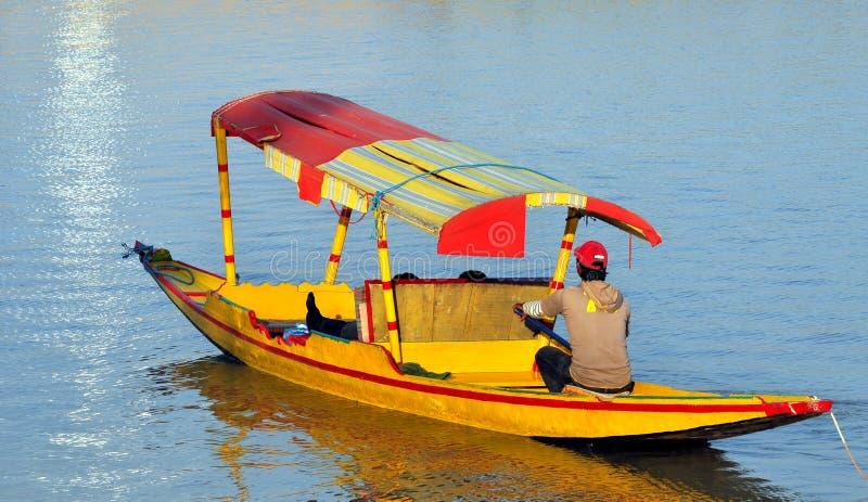 De boot van Shikara royalty-vrije stock foto