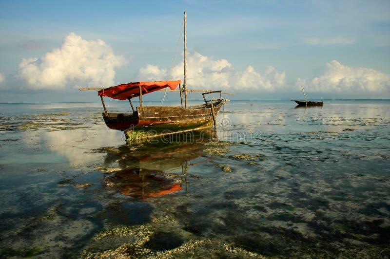 De Boot van Zanzibar stock afbeeldingen