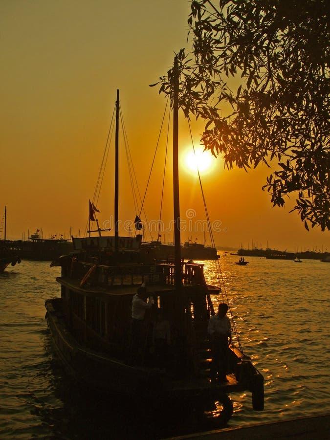De bootmeertros in Ha snakt baai stock foto