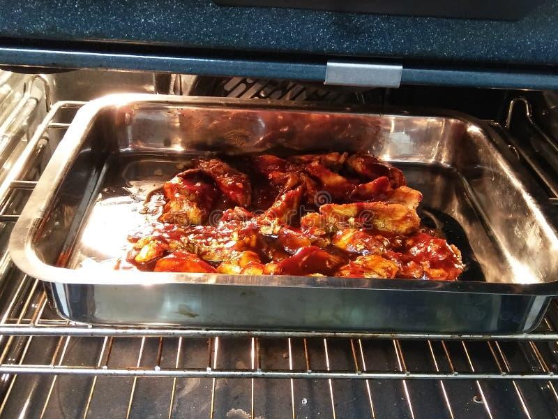 de borst van de barbecuekip royalty-vrije stock foto