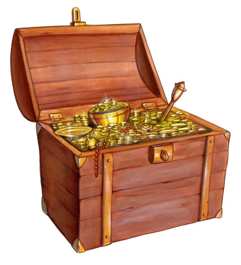 De borst van de schat royalty-vrije illustratie