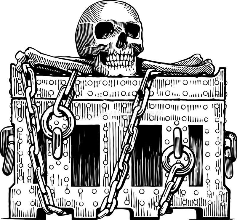 De borst van Deadman royalty-vrije stock foto
