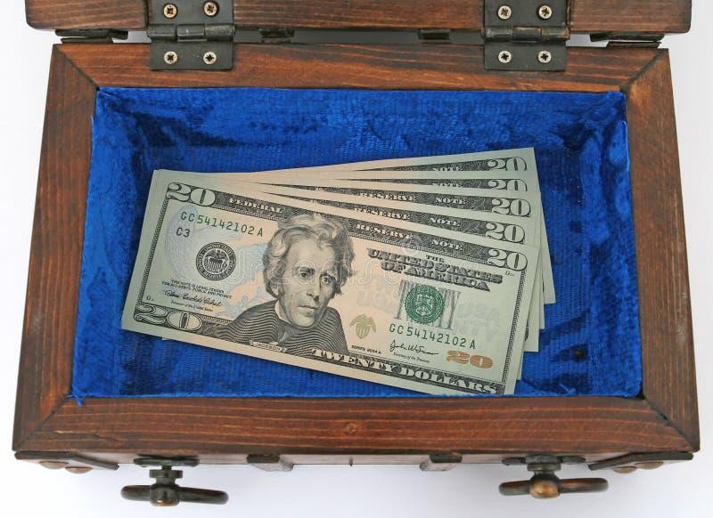 Geldborst royalty-vrije stock fotografie