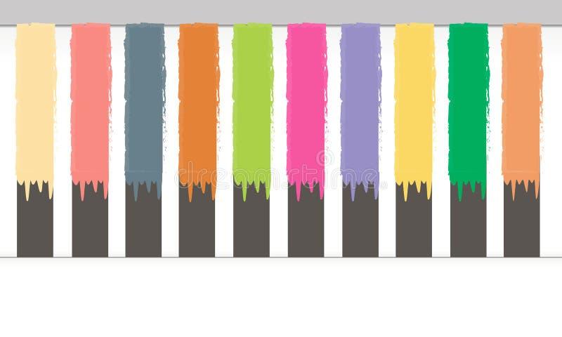 De borstel trekt rassenbarrières stock illustratie