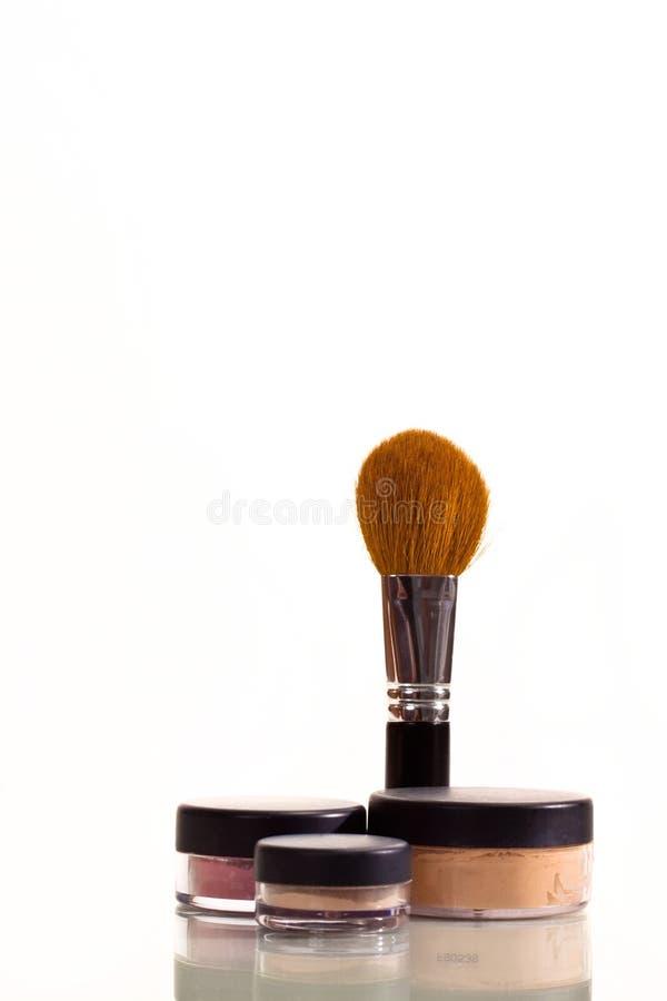 De borstel van de make-up royalty-vrije stock foto's