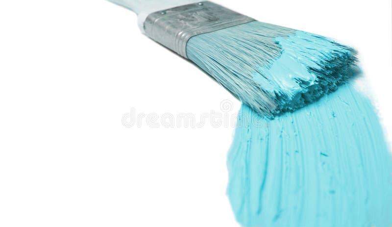 De borstel van de schilder stock afbeeldingen