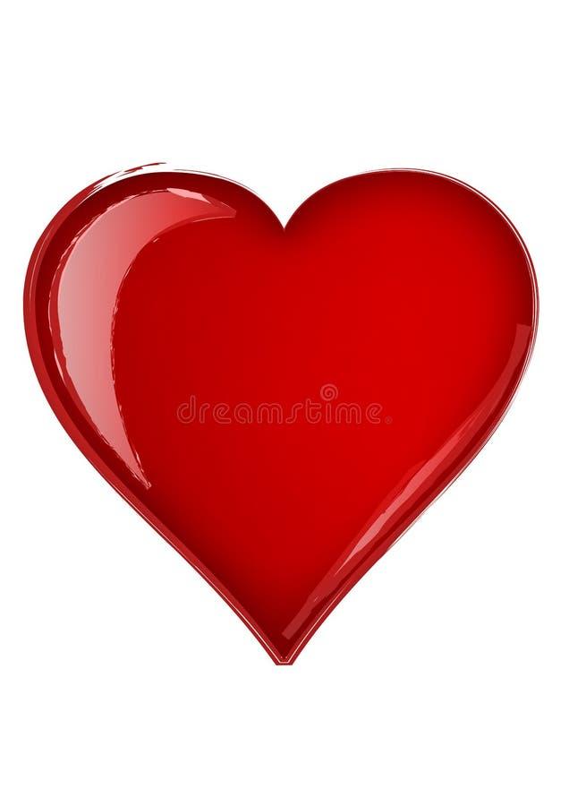 De borstel van het hart - vector stock illustratie