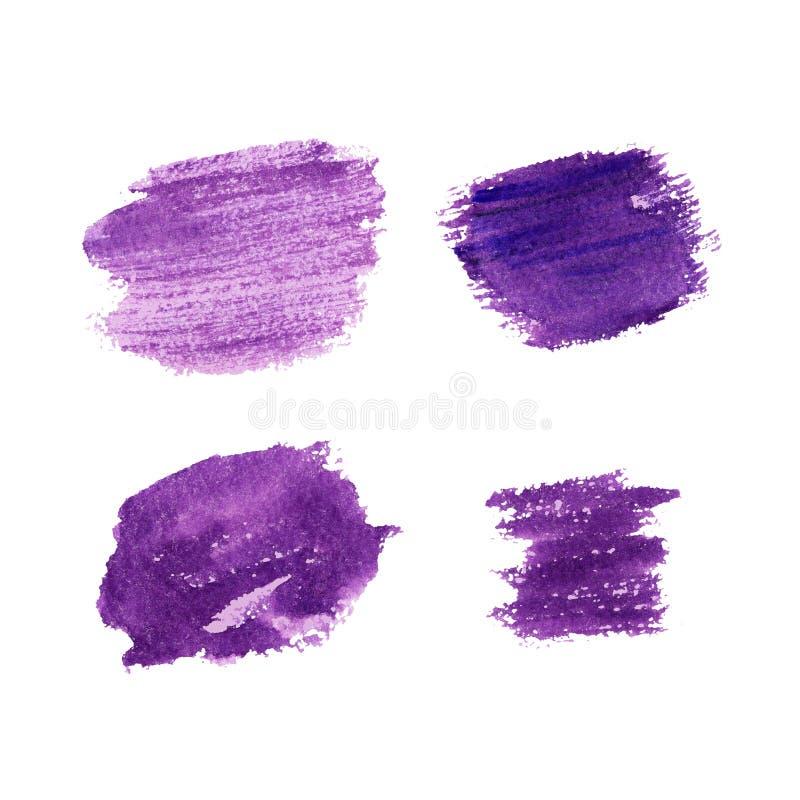 De borstel van de lavendelkleur strijkt hand getrokken achtergrond royalty-vrije stock foto's