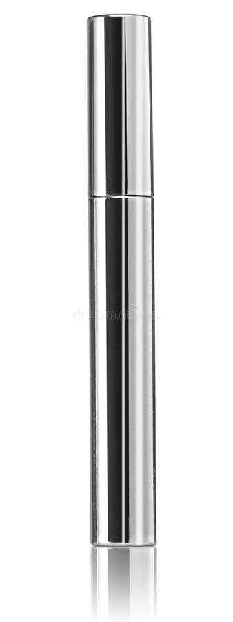 De borstel zilveren pakket van de luxemascara met wimperapplicato royalty-vrije stock fotografie