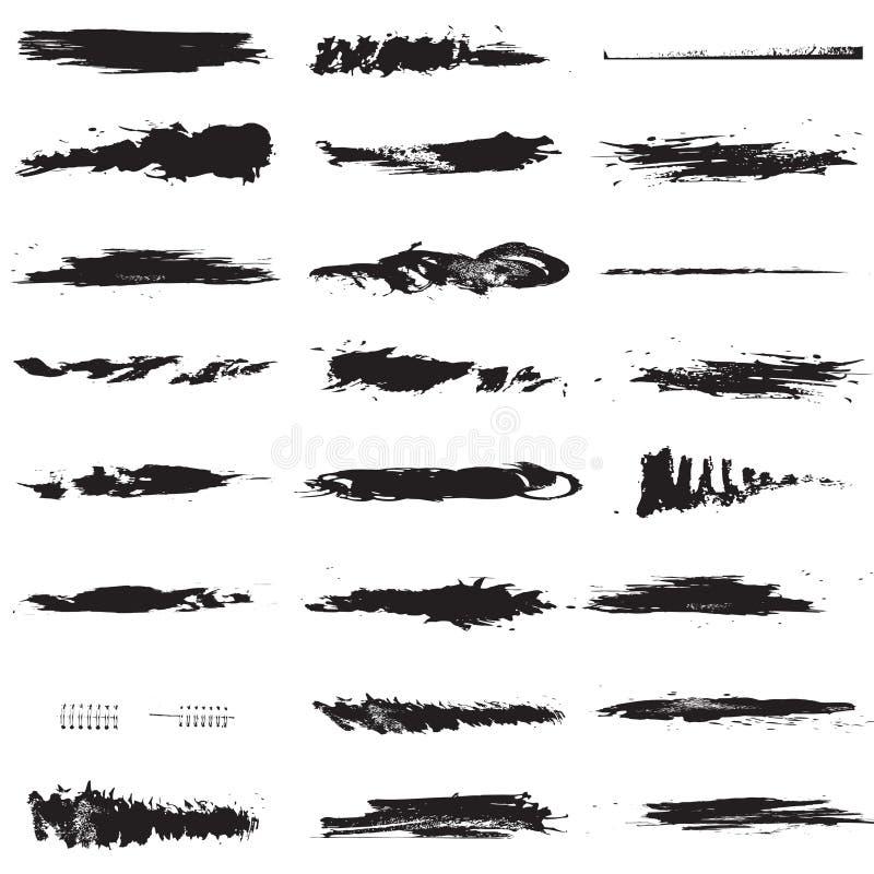 De borstels van de lijn stock illustratie