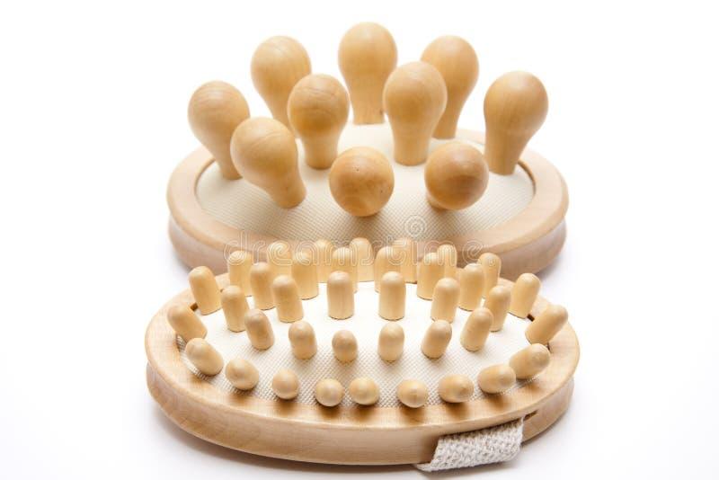 De borstels van de massage van hout royalty-vrije stock foto's