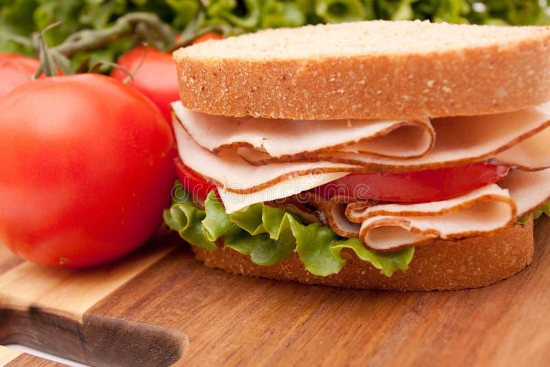 De borstsandwich van Turkije stock fotografie