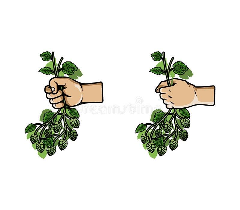 De Bos van de handgreep van Hop stock illustratie