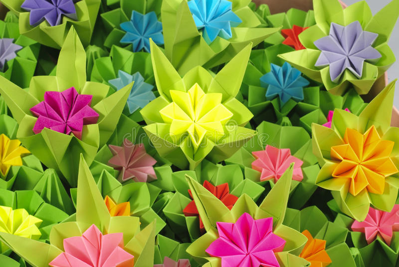 De bos van de origami stock afbeeldingen