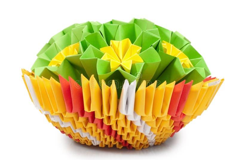 De bos van de origami royalty-vrije stock afbeeldingen