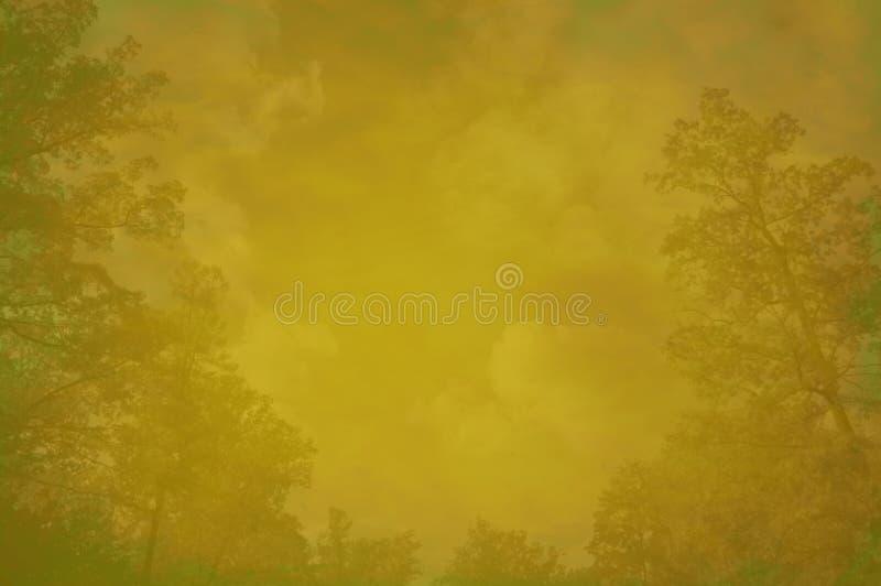 De bosachtergrond van Grunge met ruimte voor tekst royalty-vrije illustratie