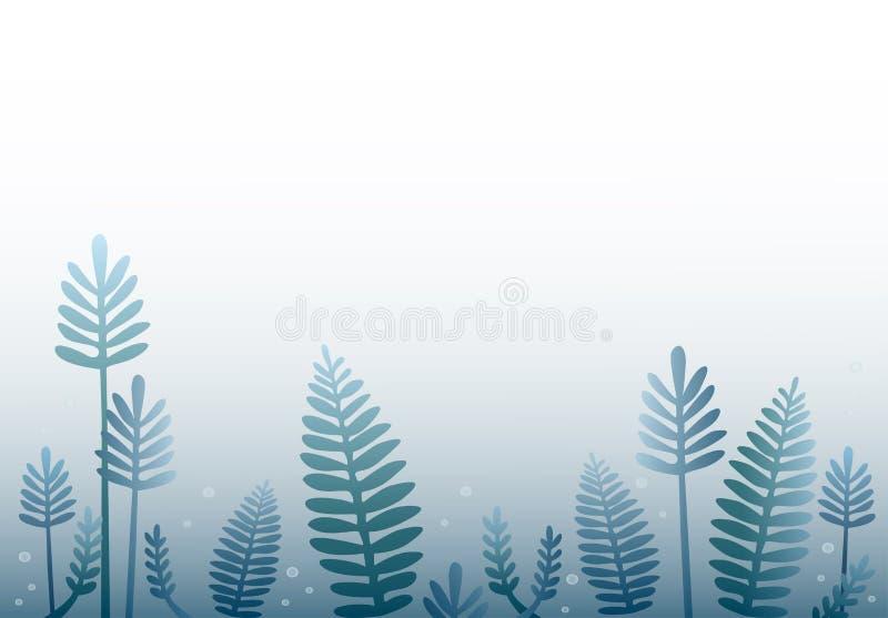 De bosachtergrond van het beeldverhaalontwerp vector illustratie