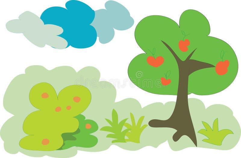 De bosboom van het fruit royalty-vrije illustratie