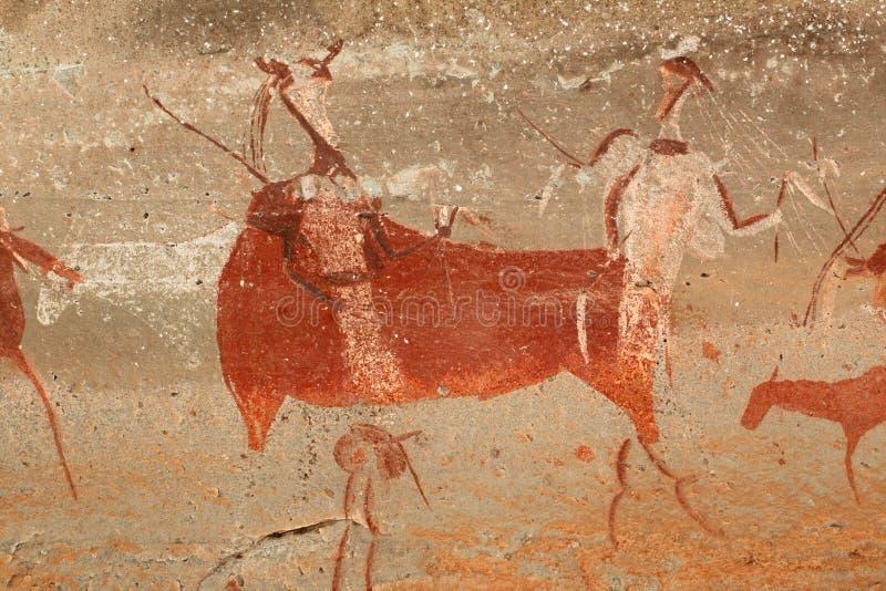 De Bosjesmannen schommelen het schilderen vector illustratie