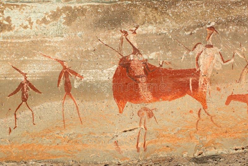 De Bosjesmannen schommelen het schilderen royalty-vrije stock foto's