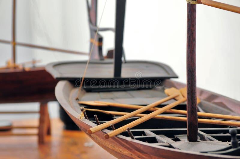 De boskennis van de vissersbootmaldiven stock afbeeldingen
