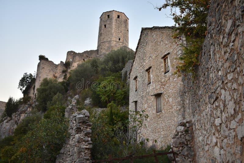 De Bosnische middeleeuwse stad van PoÄ  itelj royalty-vrije stock fotografie