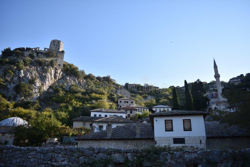 De Bosnische middeleeuwse stad van PoÄ  itelj stock fotografie