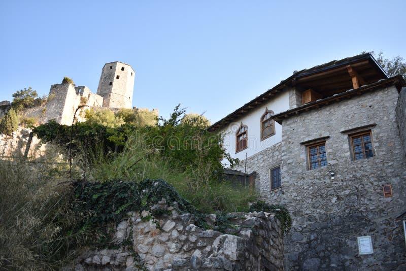 De Bosnische middeleeuwse stad van PoÄ  itelj stock foto