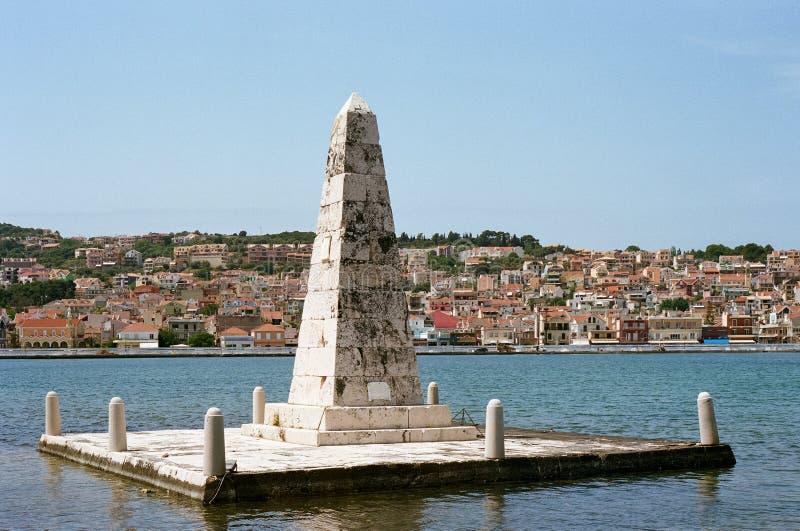 De Bosset Obelisk w Argosotoli, Kefalonia obrazy royalty free