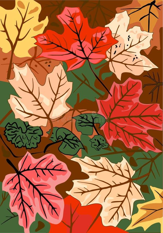 De BosVloer van de herfst stock illustratie