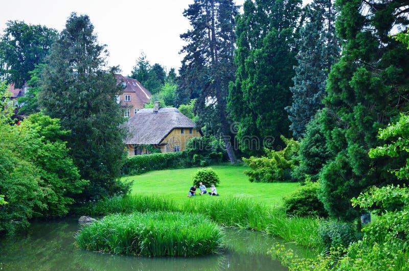 De Botanische Tuin van Denemarken, Aarhus stock fotografie