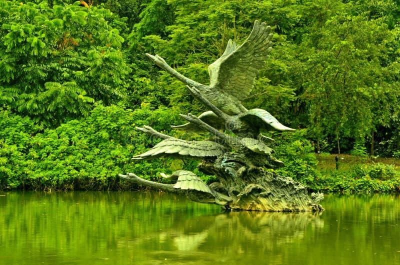 De Botanische Tuinen van Singapore, Zwaanmeer stock foto