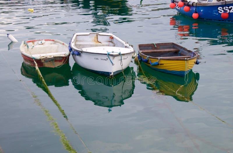 De Boten van Cornwall stock afbeelding