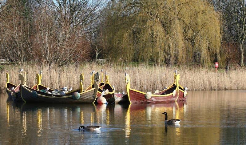 De Boten van de draak, Bedford, het UK royalty-vrije stock foto's