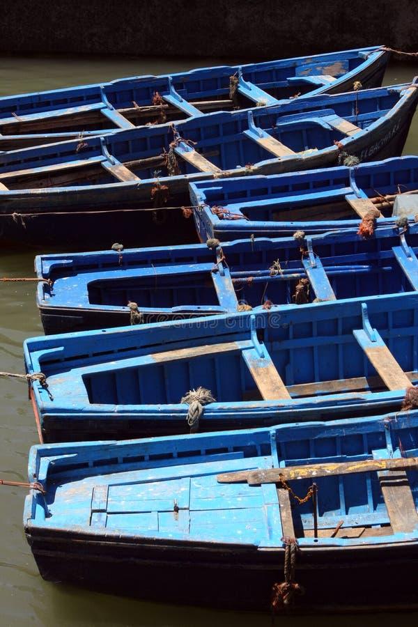De boten van de indigo stock foto