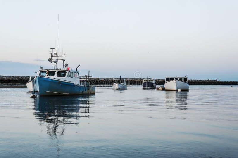 De boten van Maine stock afbeelding