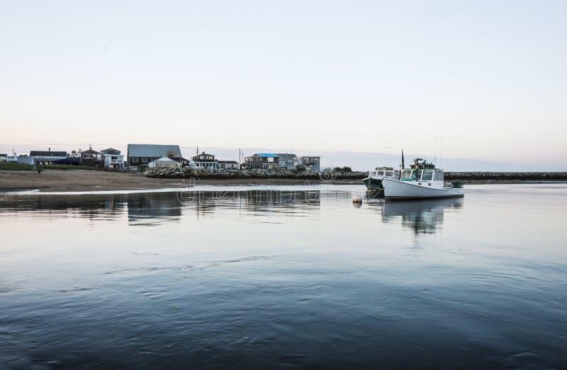 De boten van Maine stock fotografie