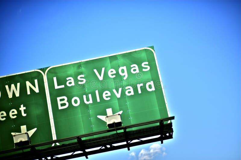 De Boulevard van Vegas van Las royalty-vrije stock foto
