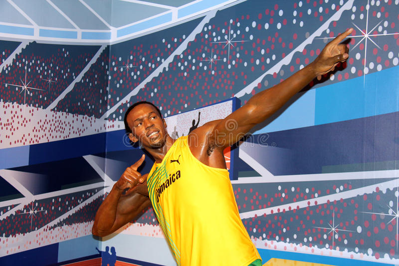 De Bout van Usain stock fotografie