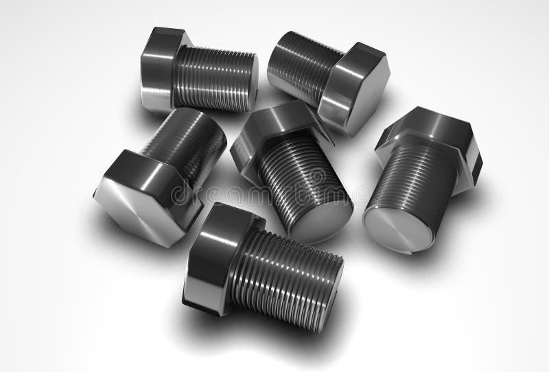 De bouten van het metaal stock illustratie