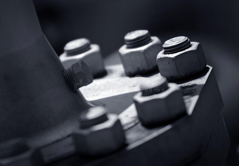 De bouten van het metaal stock foto