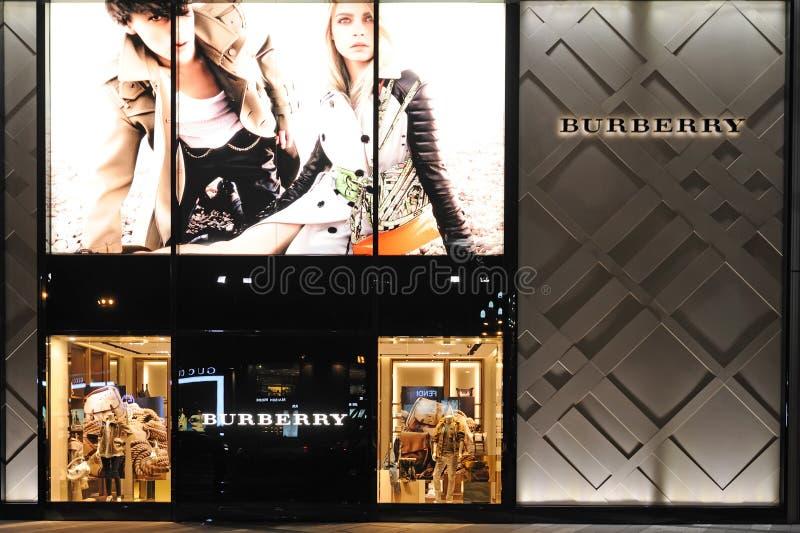 De Boutique van de Manier van Burberry royalty-vrije stock fotografie