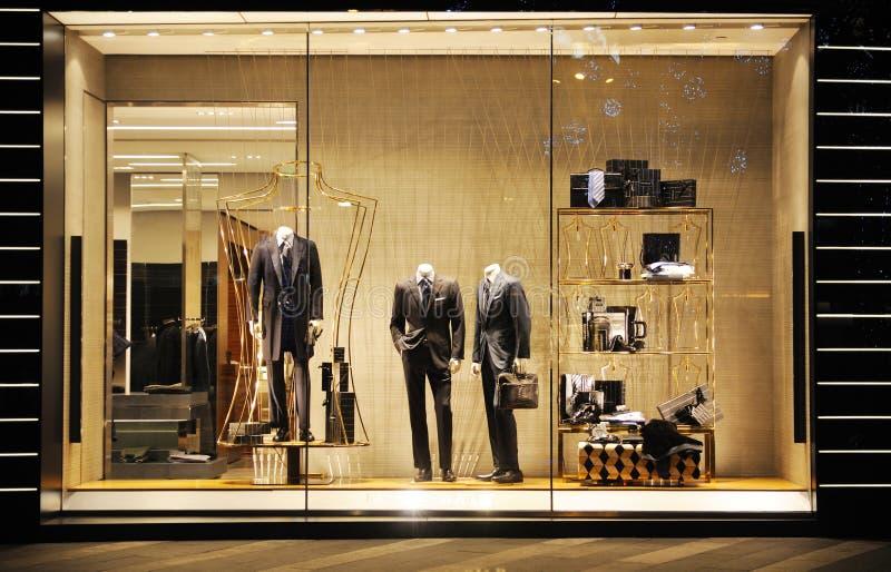 De Boutique van de Manier van Zegna van Ermenegildo royalty-vrije stock afbeelding