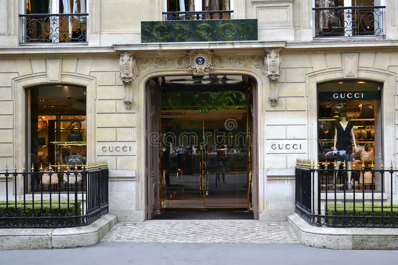 De boutique van Gucci, Parijs royalty-vrije stock foto